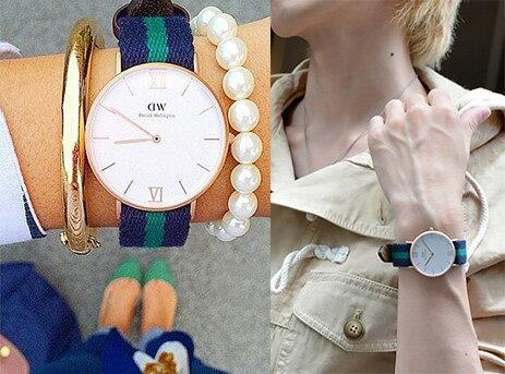 瑞典正品代購 Daniel Wellington 0552DW 玫瑰金 皮革 尼龍 帆布錶帶 男女錶 手錶腕錶 36MM 3
