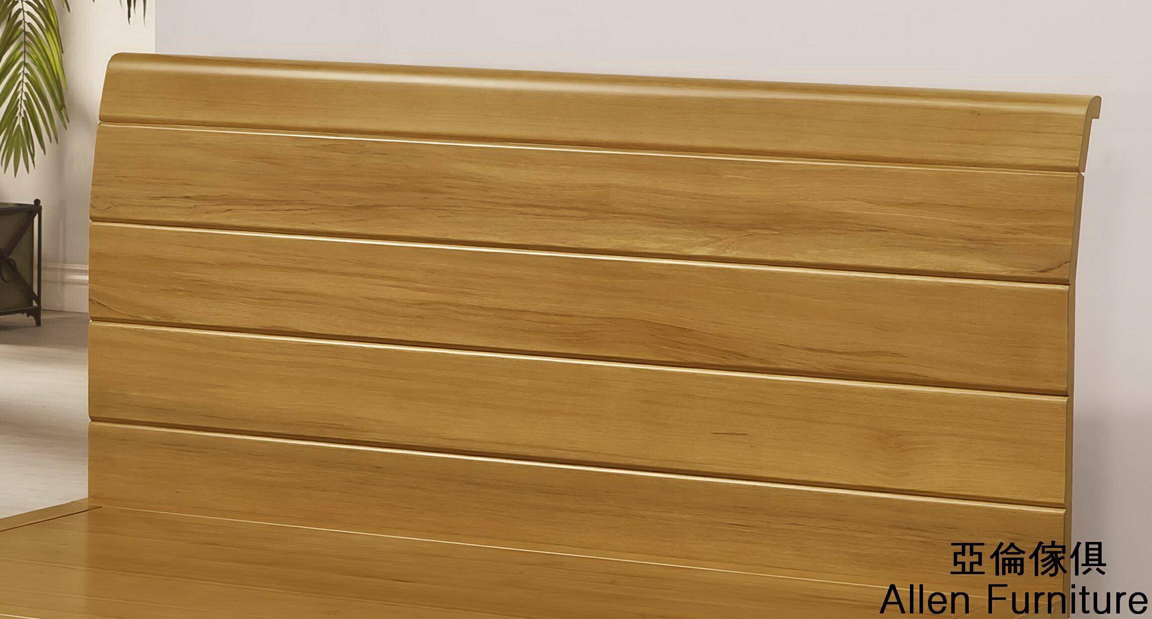 亞倫傢俱*貝利亞紐松全實木5尺雙人床架 2