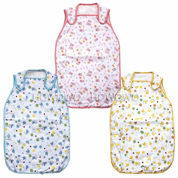 嬰兒紗布睡袋 六層紗布背心式加長防踢被寶寶睡袋 RA1181