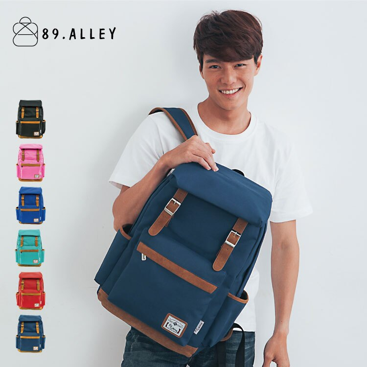 後背包 女包男包 獨家品牌加厚尼龍配質感麂皮 旅行出國情侶大容量後背包 89.Alley ☀6色 3