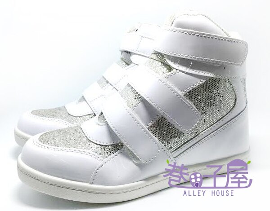 【巷子屋】女款小心機內增高運動休閒鞋 5cm [37040] 白 MIT台灣製造 超值價$298