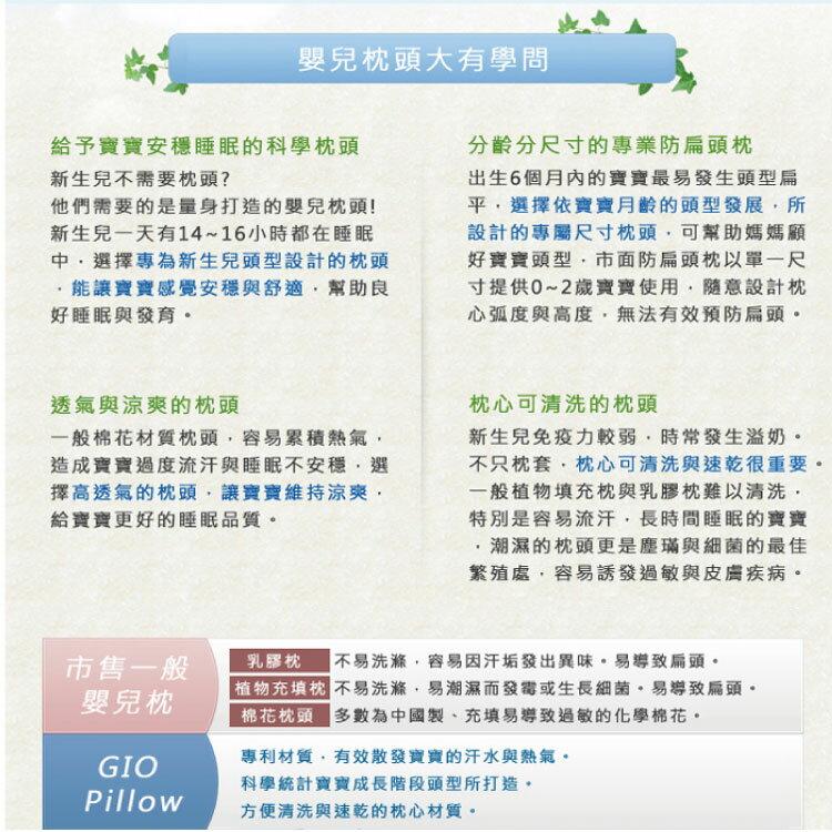 【大成婦嬰】韓國GIO Pillow 超透氣護頭型嬰兒枕頭 (S號、M號) 新生兒起適用 防扁頭 防蟎 2