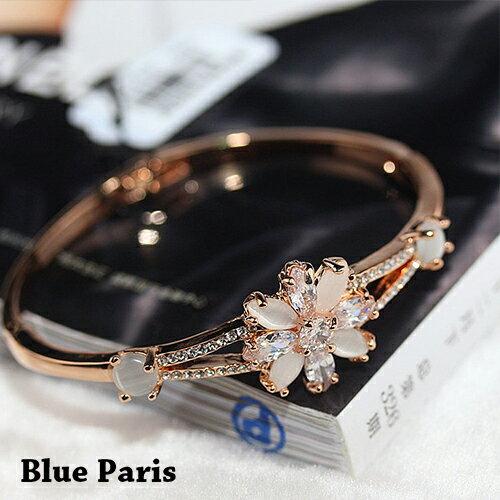 手環 - 韓版氣質花朵水鑽手鐲【21556】 藍色巴黎 - 現貨+預購 0