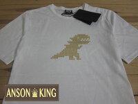 agnès b.到[Anson king]outlet國外代購 agnes b.sport b 燙金恐龍 短袖 圓領 男款 T恤 白