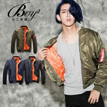 ☆BOY-2☆ 【NQ98070】美式素面MA-1鋪棉外套 1