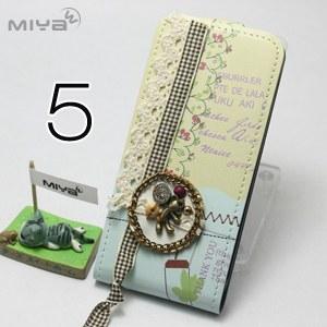 ~MIYA米亞~iPhone5 5 氣質甜心 韓國掀蓋手機套 ^(套 皮套 皮質 上下 翻