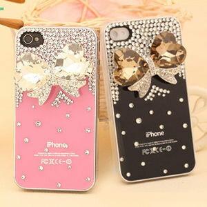 ~MIYA米亞~iPhone 4s 4 Hello Kitty 凱蒂貓 水鑽珍珠殼^(捷克
