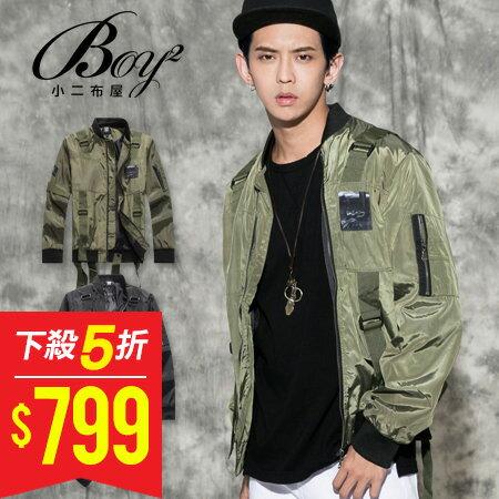 ☆BOY-2☆ 【NQ98067】美式多帶印花飛行夾克外套 0