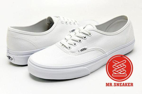 ☆Mr.Sneaker☆ Vans Authentic 全白 經典/復古/休閒 滑板鞋 Damn Daniel/The Ellen DeGeneres Show/Kanye West  男女款