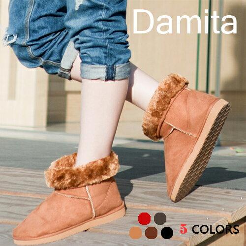 Damita  ❤ 超人氣可愛款暖暖鋪毛雪靴  ( 6色 )