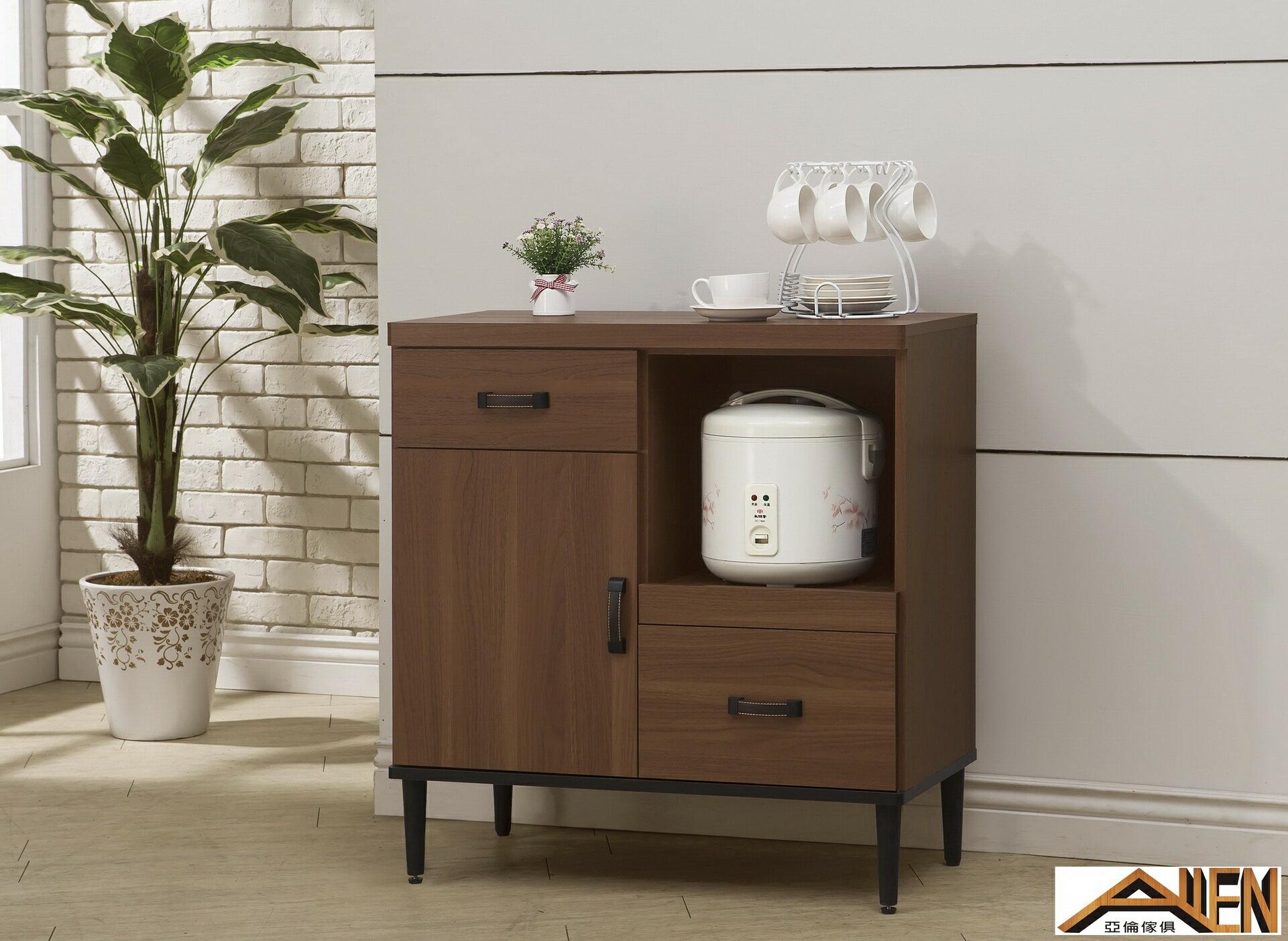 亞倫傢俱*亞當斯立體木紋單門碗盤櫃全組 2
