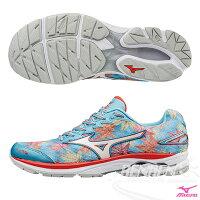慢跑_路跑周邊商品推薦到MIZUNO 美津濃 WAVE RIDER 20 (W) 女慢跑鞋 路跑 (楓葉X銀白) 富士馬拉松紀念鞋款 限量