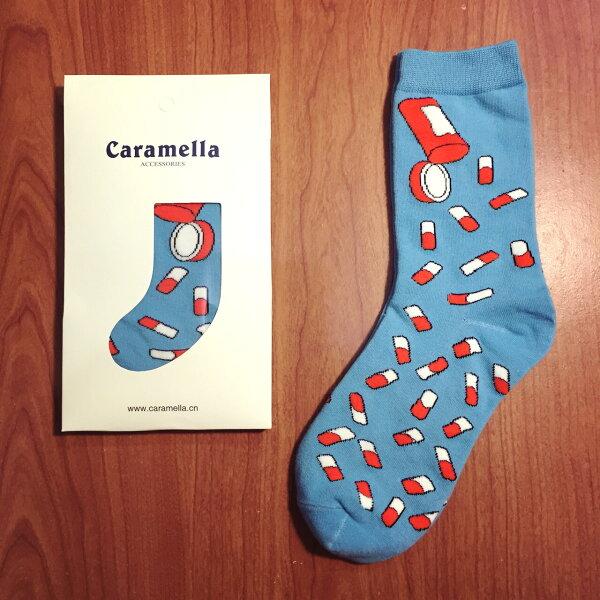 【開幕促銷】Caramella 小藥丸 中筒襪 短襪 船襪 隱形襪 五指襪 文青情侶 運動穿搭 阿華有事嗎 C0002