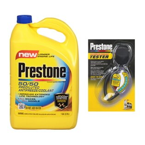 Prestone百適通原廠全合成長效防凍冷卻液AF-2100+水箱精濃度檢測器 AF-1420