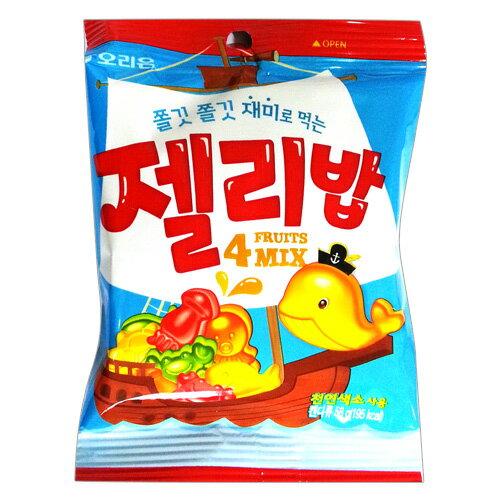 有樂町進口食品 韓國好麗友QQ糖58g 果汁軟糖海洋世界 水底世界綜合橡皮糖 K26 8801117337001