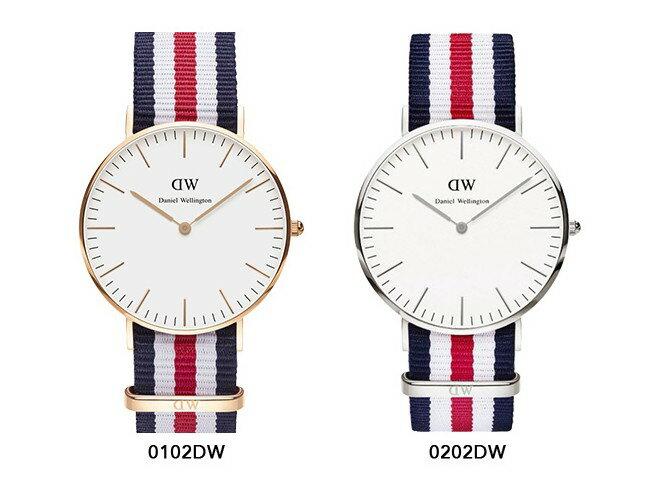 瑞典正品代購 Daniel Wellington 0102DW 玫瑰金 尼龍 帆布錶帶 手錶腕錶 40MM 2