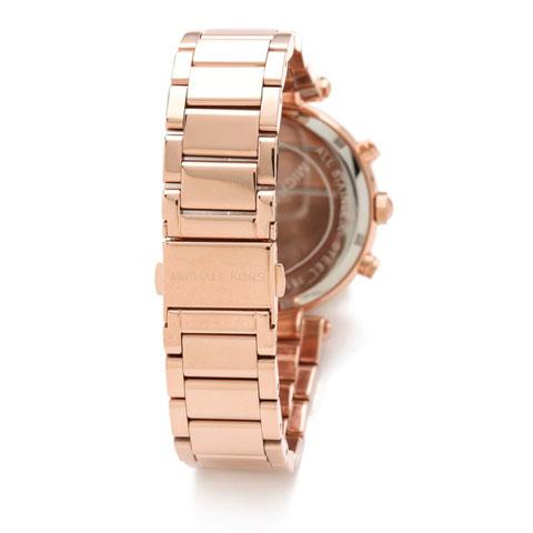 【限時8折 全店滿5000再9折】MichaelKors MK 玫瑰金鑲鑽 三環計時手錶腕錶 MK5491 美國Outlet 正品代購 4