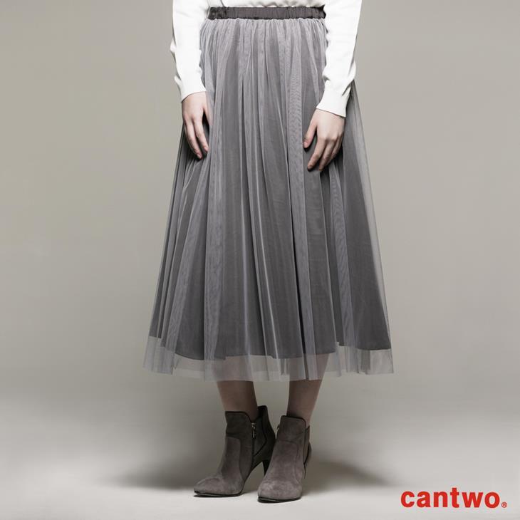 cantwo雙色長紗裙(共二色) 1