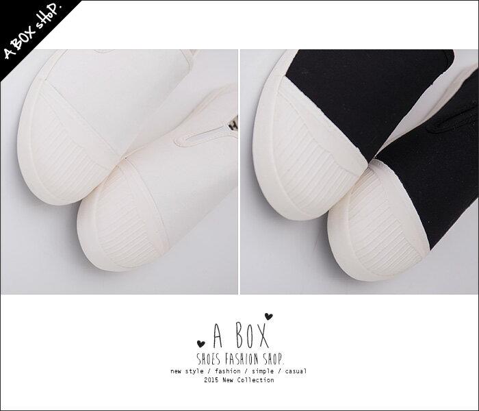 格子舖*【KH6870】校園風格經典 簡約時尚素面 貝殼頭平底帆布鞋 懶人鞋 小白鞋 2色 3