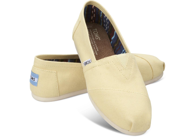 【TOMS】淡黃色經典帆布休閒鞋  Yellow Women's Canvas Classics 0