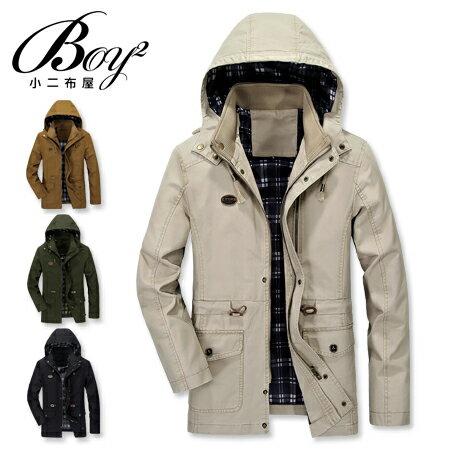 ☆BOY-2☆【NZ78009】軍裝硬挺皮標可拆式連帽外套 0