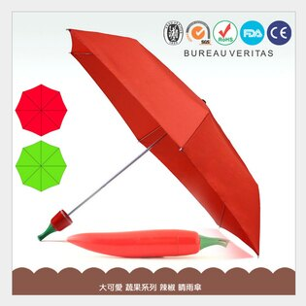 獨特 辣椒 造型晴雨傘/手開傘/三折傘/雨傘/晴傘/陽傘/遮陽傘/兒童傘/創意可愛/送禮/蔬果/居家/店面裝飾