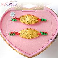 彌月禮盒推薦EZGOLD ♥kiki帽天使♥ 彌月金飾音樂禮盒 (0.10錢)