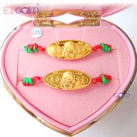 彌月禮盒推薦EZGOLD ♥寶貝天使♥ 彌月金飾音樂禮盒 (0.10錢)