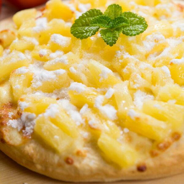 【法羅烤箱現作手工披薩】《糖霜鳳梨pizza》