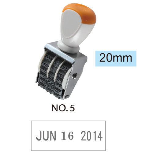 【開明 收發日期章】5號 英文日期收發章/收發日期印/收發日付印 20mm