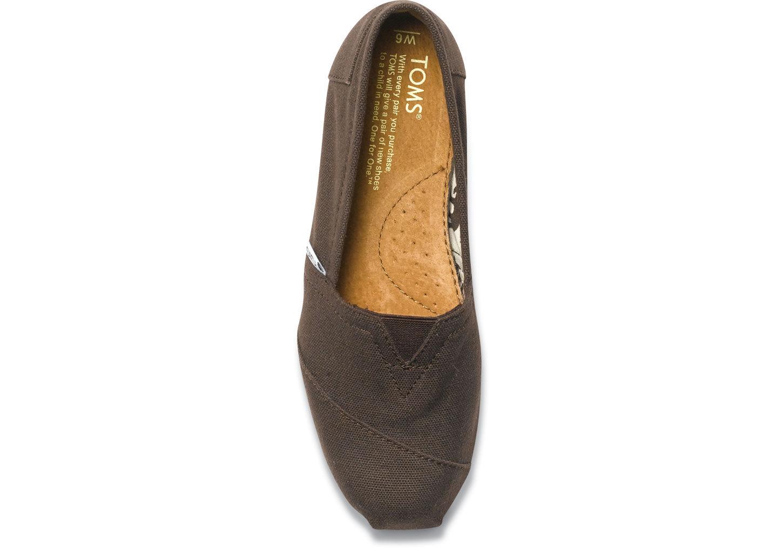 【TOMS】可可色素面基本款休閒鞋  Chocolate Canvas Women's Classics 4