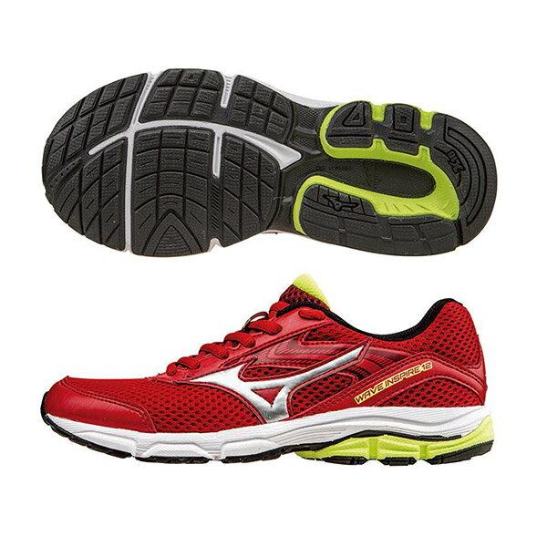 WAVE INSPIRE12 Jr. 支撐型童鞋 K1GC162704(紅X銀)S【美津濃MIZUNO】