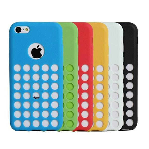 Ultimate- iPhone 5C 亮麗全彩洞洞軟質手機外殼防摔後背蓋保護套 軟殼 保護殼 手機殼