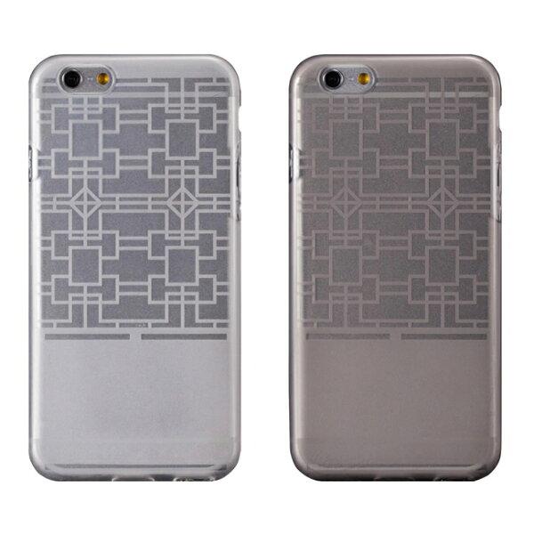 "Ultimate- iPhone 6 (4.7"") 摩登紋路全透軟質保護殼 防塵設計 手機背蓋 時尚壓紋清水套 i6透明軟殼 果涷套"