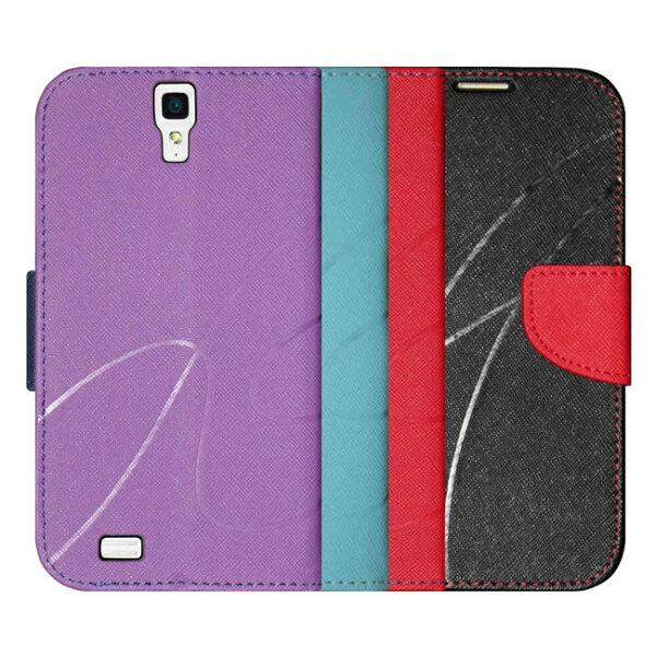 Ultimate- Infocus M320 新潮美紋撞色可立式皮套 手機支架皮套 可立式保護套 卡片收納手機包