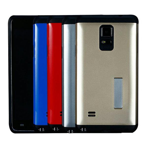 Ultimate- 三星 Note4 時尚輕甲雙件雙料可立手機殼 Samsung空壓技術防撞保護殼 保護套 非SGP