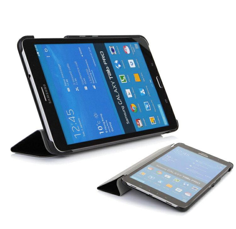 Ultimate- Samsung Tab S 8.4 (T700) 經典皮紋三折磁釦可立皮套 超薄三折平板電腦皮套