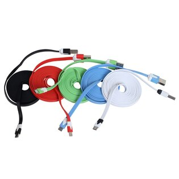 Ultimate- Micro USB 2M 扁條傳輸充電線 麵條傳輸線 HTC/SAMSUNG/SONY/LG 小米