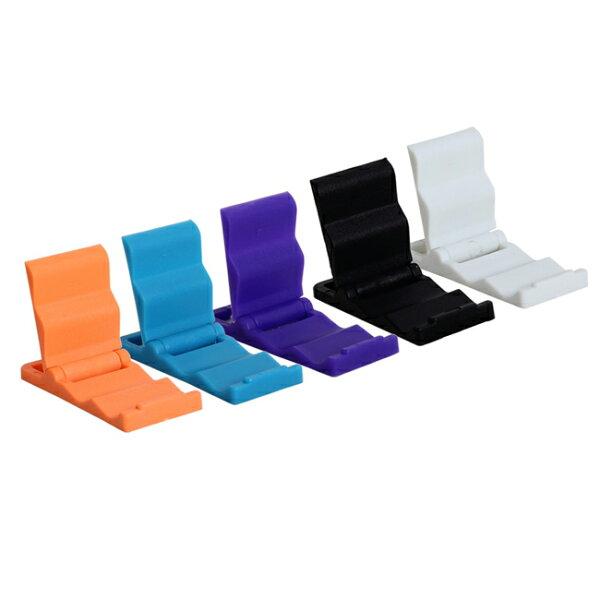 隨機出貨- 小型塑膠支撐架 迷你隨身折疊小支架 手機支架 手機固定座 iphone Samsung HTC