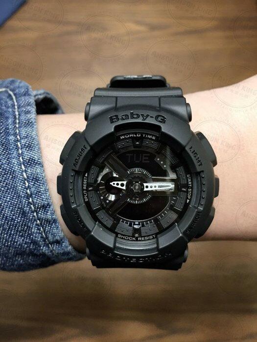 國外代購CASIO BABY-G Ba-110BC-1A 消光黑 雙顯 防水 手錶 腕錶 情侶錶 1