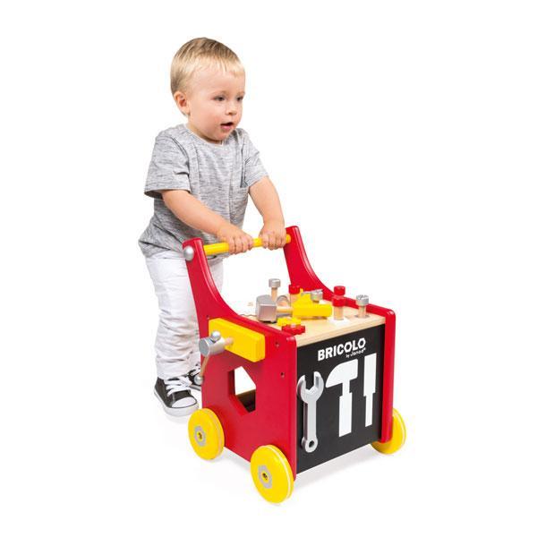 ~法國 Janod~小木匠 玩~磁性工作車 ~  好康折扣