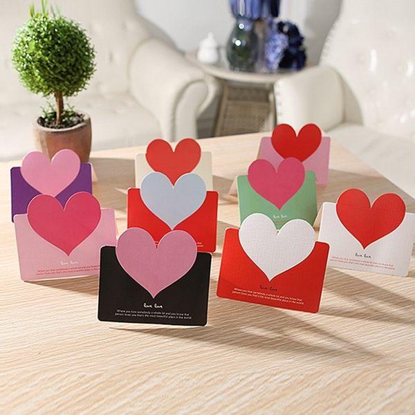 PS Mall 韓版文具 愛心創意賀卡 生日祝福留言卡片 商務聖誕節日 萬用賀卡【J2171】