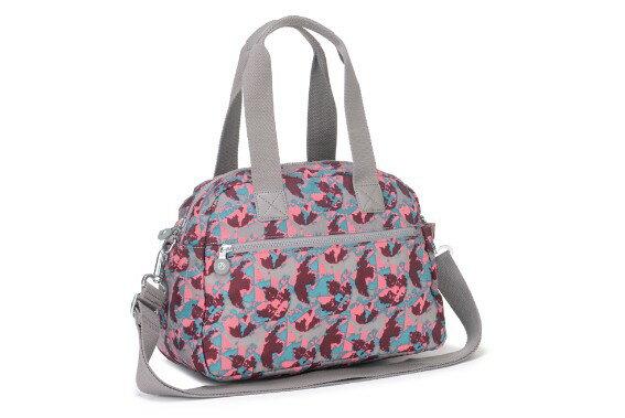 OUTLET代購【KIPLING】手提側背包 旅行袋 斜揹包 潑墨紅 1