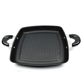 【御膳坊】角型低脂碳鋼燒烤盤(雙耳)28CM