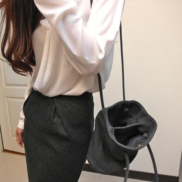 【Blancstudio 】設計款壓摺後開衩長窄裙