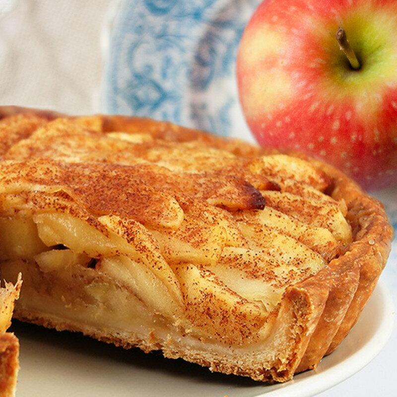 蘋果花盛開時~肉桂蘋果派6吋❤全 派皮 黃金比例雙蘋果餡~有感情的派~素~^~VB^~凡內