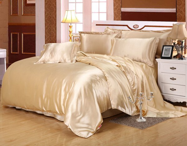 躺在雲端 真絲100%桑蠶絲 寬幅被套雙面絲綢床品四件套七天預購+現貨