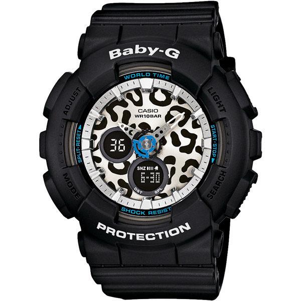 CASIO BABY-G BA-120LP-1A白面豹紋雙顯流行腕錶/白面43.4mm
