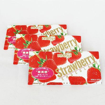 【敵富朗超巿】明治草莓巧克力(片裝)
