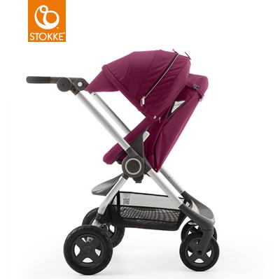 【本月贈市價$1050杯架】【贈Borny安全帶護套(花色隨機)】Stokke Scoot 2代嬰兒手推車(紫色) 1